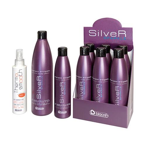 Termo pürüzsüz - özel yemeği piastra gümüş Simli - şampuan antigiallo - BIACRE'